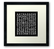 Horror Puzzle Framed Print