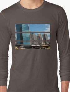 Cartooned Sydney Skyscrapers Long Sleeve T-Shirt