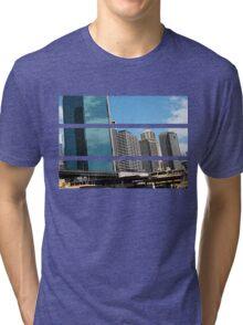 Cartooned Sydney Skyscrapers Tri-blend T-Shirt