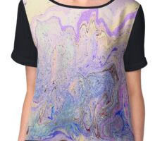 Gorgeous ink design for large prints on duvets leggings skirts T-shirts phone cases and more Chiffon Top