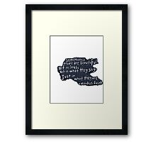 People are beautiful  Framed Print