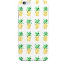 Orange Watercolour Pineapples iPhone Case/Skin