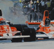 Niki Lauda vs James Hunt  Sticker