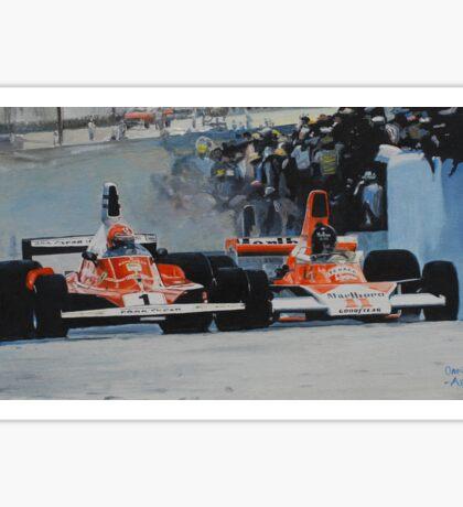Niki Lauda vs James Hunt  Sticker