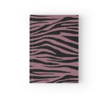 0404 Mauve Taupe or Raspberry Glace Tiger Hardcover Journal