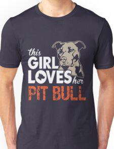 This Girl Loves Her Pit Bull Unisex T-Shirt