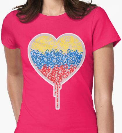 A PEACE OF MY BLEEDING HEART Womens Fitted T-Shirt