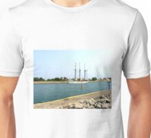 Tree masts sailing ship Unisex T-Shirt