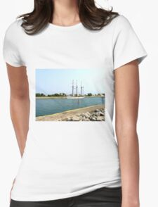 Tree masts sailing ship Womens Fitted T-Shirt