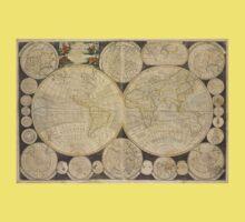 World Map 1798 One Piece - Short Sleeve