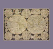 World Map 1798 Kids Tee