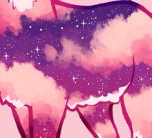 """Just Keep Moving Forward"" Night Sky Deer Sticker"