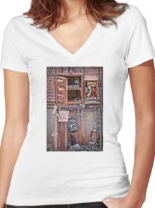 A Collaboration Of Rust Women's Fitted V-Neck T-Shirt