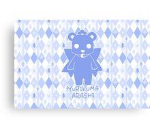 Yuri Kuma Kureha Bear Silhouette  Canvas Print