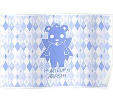 Yuri Kuma Kureha Bear Silhouette  Poster