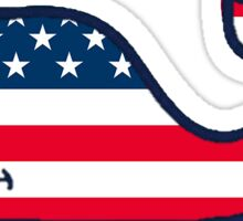 United States of America Vineyard Vines Whale Sticker