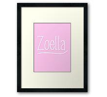 Zoella Pink Framed Print