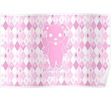 Yuri Kuma Ginko Bear Silhouette Poster