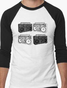 Ghetto Blaster BW Men's Baseball ¾ T-Shirt