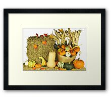 Happy Thanksgiving Day. Framed Print