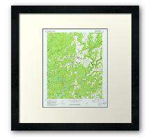 USGS TOPO Map Alabama AL Addison 303077 1969 24000 Framed Print