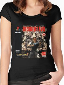 Resident Evil Original Destressed Women's Fitted Scoop T-Shirt