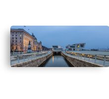 Canal to the River Mersey Canvas Print