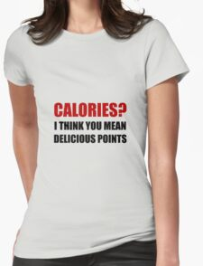 Calories Delicious Points Womens Fitted T-Shirt