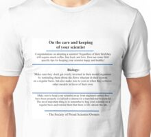 The Care and Keeping: Biology Unisex T-Shirt