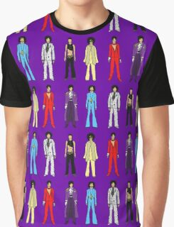 Outfits of Prince Fashion on White Graphic T-Shirt