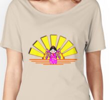 Chinese Fairy Doll in Sunshine T-shirt, etc. design Women's Relaxed Fit T-Shirt
