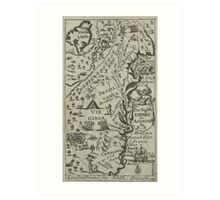 Map of the English Empire in America 1685 Art Print