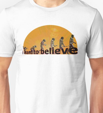 i want to believe (evolution) Unisex T-Shirt