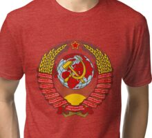State Emblem of the Soviet Union Tri-blend T-Shirt