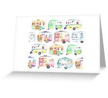 Retro Caravans Greeting Card