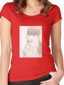 smile !!! Women's Fitted Scoop T-Shirt