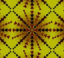 Yellow Red Black Pattern by Landon3