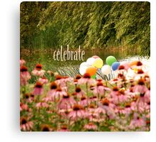 Balloons and Echinacea Celebrate Canvas Print