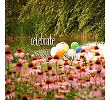 Balloons and Echinacea Celebrate Photographic Print