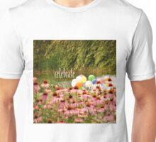 Balloons and Echinacea Celebrate Unisex T-Shirt