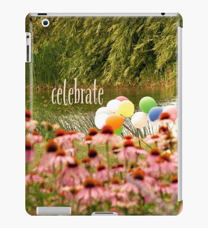 Balloons and Echinacea Celebrate iPad Case/Skin
