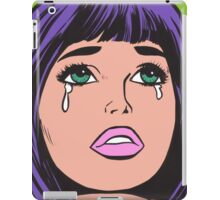 Crying Comic Girl iPad Case/Skin