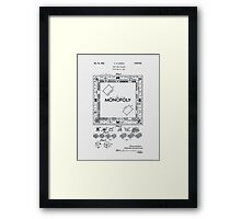 Monopoly Board Patent 1935 Framed Print