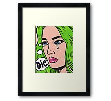 Die Comic Girl Framed Print