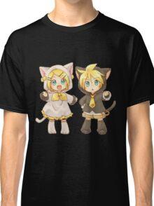Cute Kagamine Rin and Len Neko Chibi Classic T-Shirt