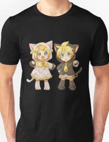 Cute Kagamine Rin and Len Neko Chibi Unisex T-Shirt