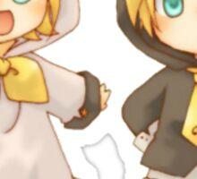 Cute Kagamine Rin and Len Neko Chibi Sticker