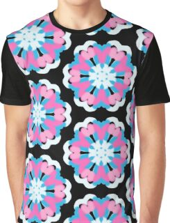 Pink and Blue flowers Graphic T-Shirt