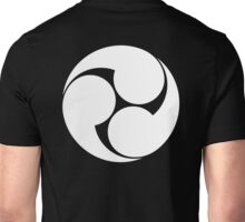 Tomoe, Japan, Japanese, Shinto symbol, Plain & Simple, White on Black Unisex T-Shirt