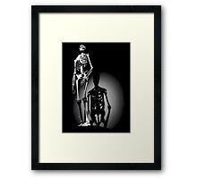 human anatomy t-shirt, human skeleton Framed Print
